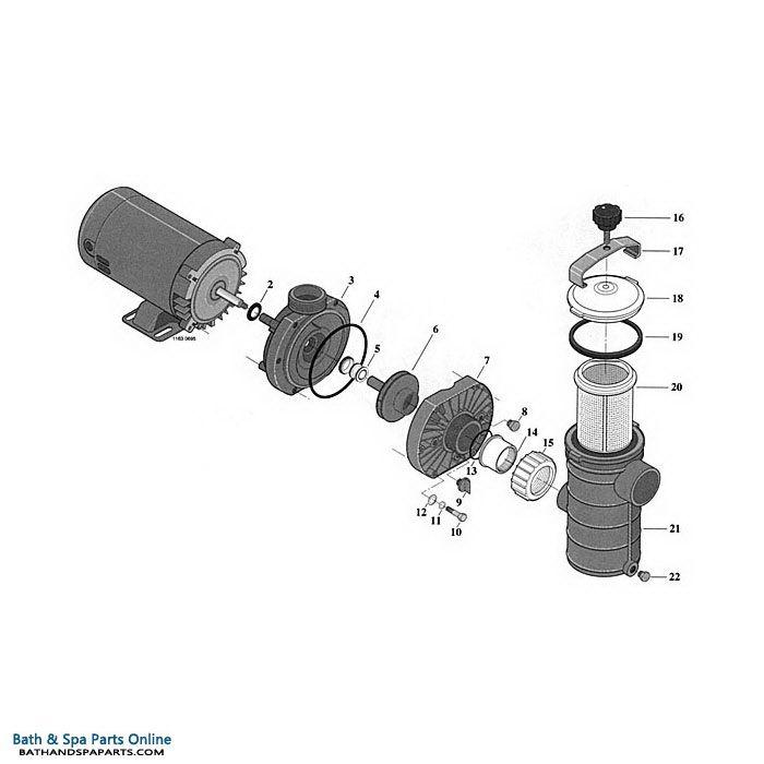 Starite Dura Jet Dj Series Pump Components Bath Amp Spa Parts Online Spa Parts Bath Spa Pumps