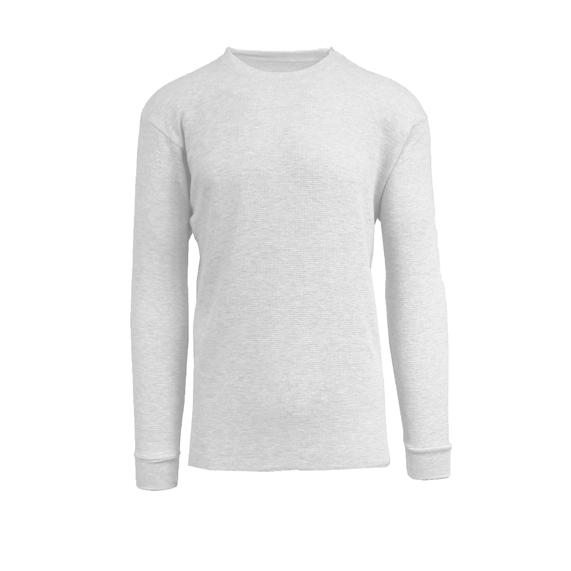 7fcba59d237e Galaxy By Harvic Men s Long Sleeve Crew Neck Thermal Waffle Shirts (White -  XL) (polyester)