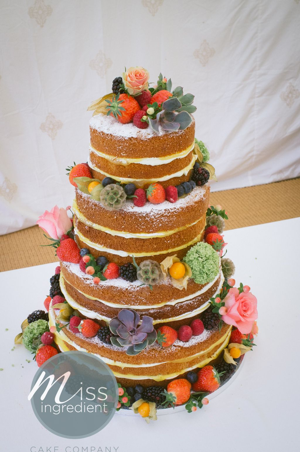 naked wedding cake by miss ingredient www.miss-ingredient ...