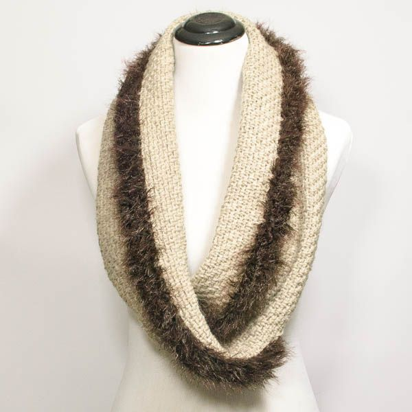 Faux Fur Trimmed Infinity Scarf To Wrap Fur Trim Infinity And Scarves