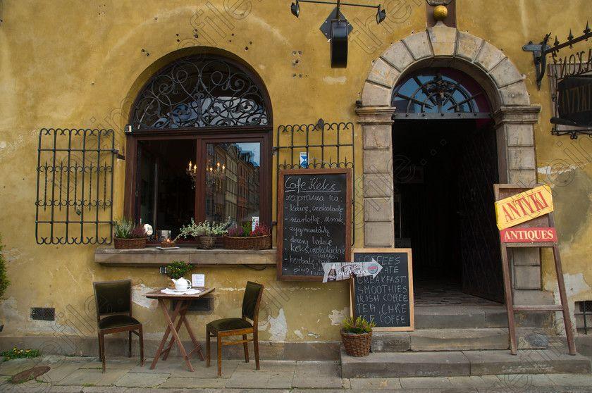 Image of cafe exterior rynek starego miasto the old town