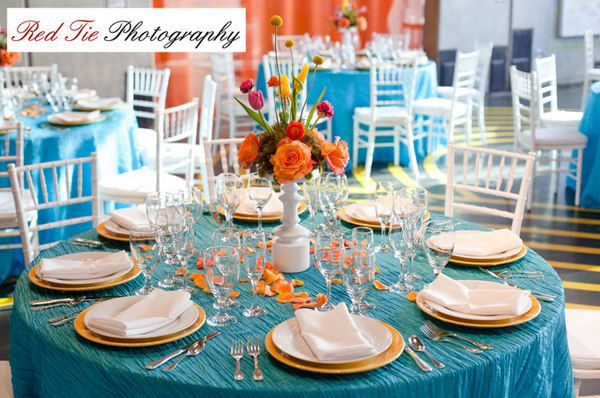 Wedding Fun I Like The Color Separation Orange Teal Turquoise Are Cute Together