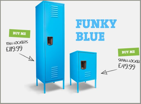 Kids Lockers For Bedrooms Just Got Funky