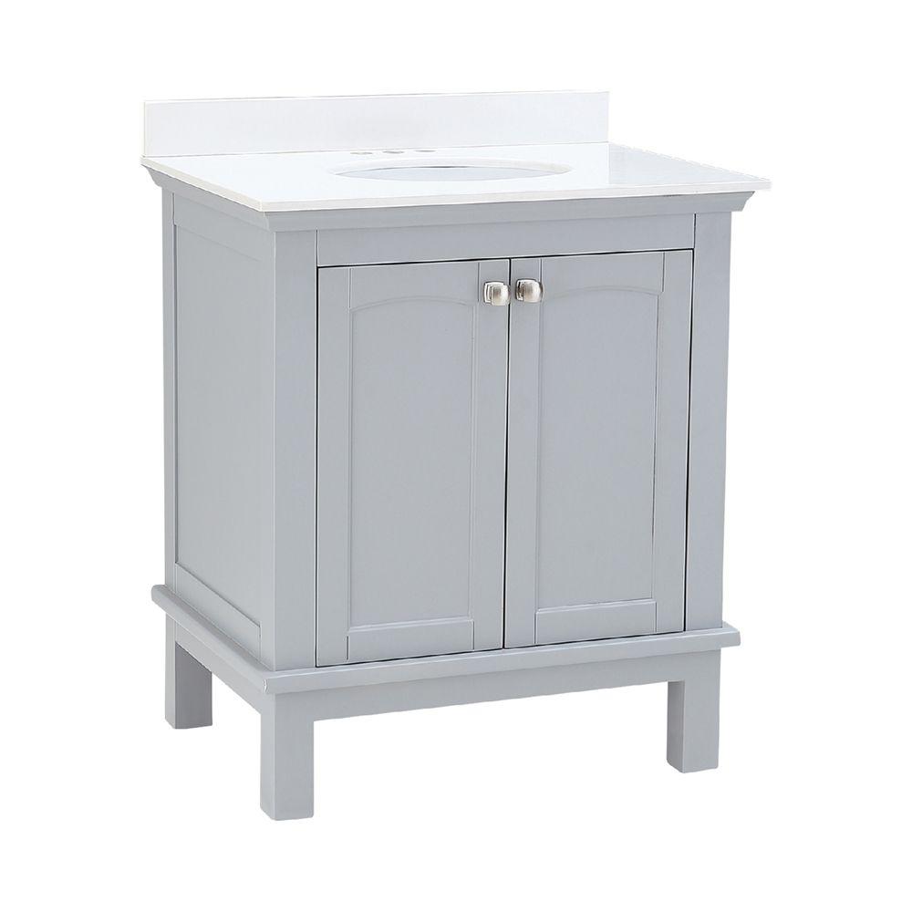 ove decors wynn 30 in pebble grey vanity and mirror lowe on lowes vanity id=43547