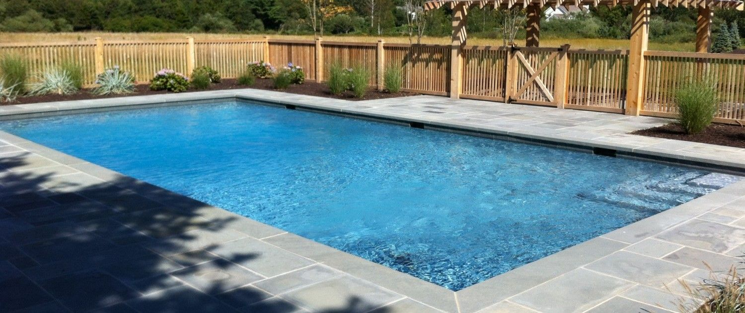 Swiming Pools Wooden Fence Design With Medium Backyard Design Also Ceramics Pool Tile And Patio
