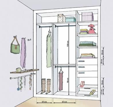 resultado de imagem para altura de armario closet