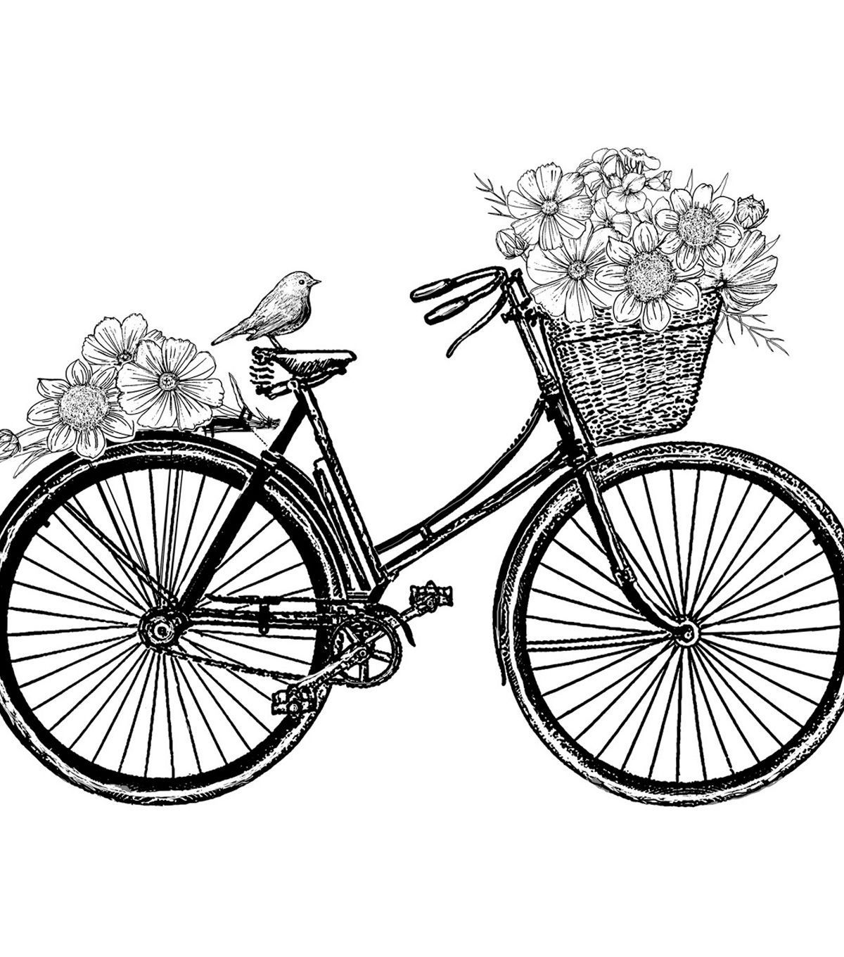 Crafty Individuals Country Days Unmounted Rubber Stamp | Bicicleta ...
