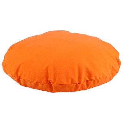 Brite Ideas Living Outdoor Round Dog Pillow Color: Sundeck Orange