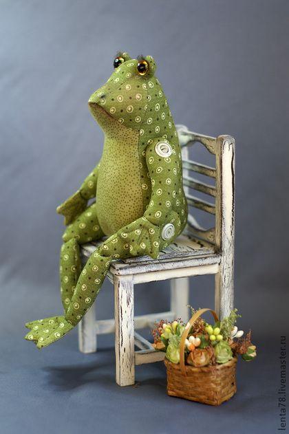 """Bonecas colecionáveis feitos à mão. Feira dos Mestres - Textile boneca handmade """"Sra. Kvakins"""". Handmade."""