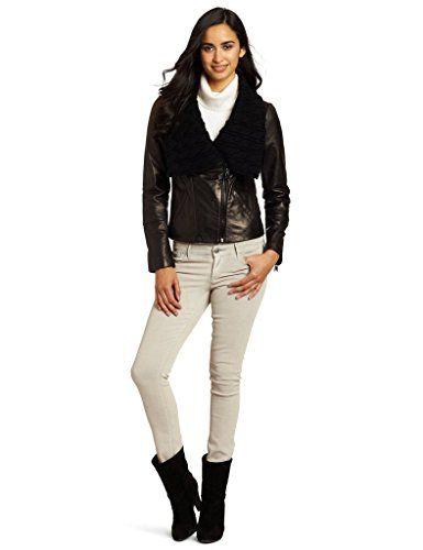 NorthManPlus Womens Leather Bomber Biker Jacket