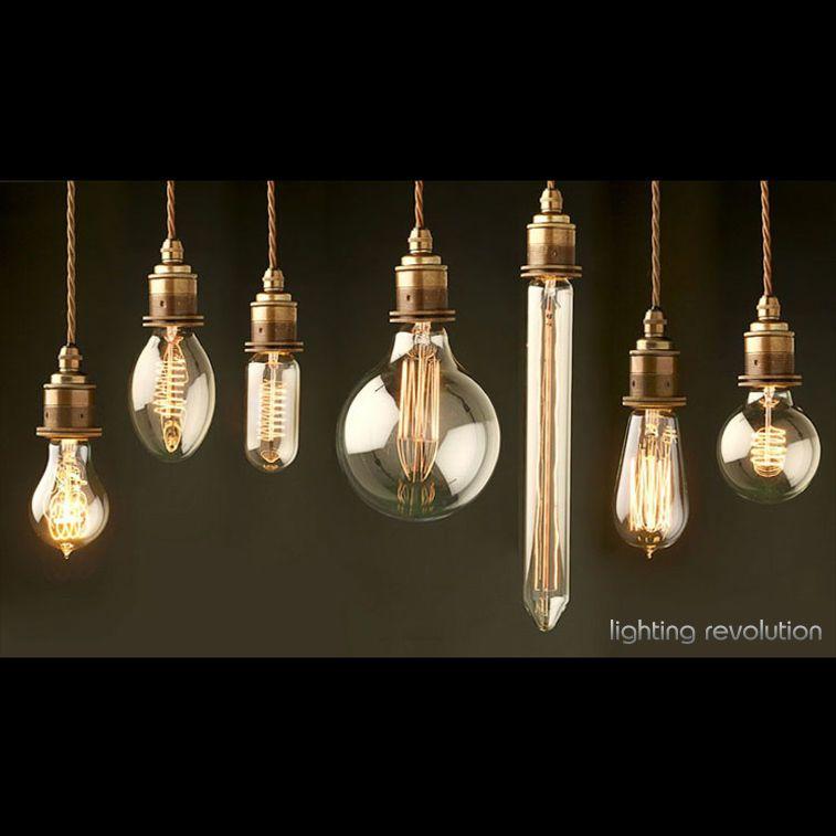 Details About Vintage Style Edison Filament Bulb E27 B22