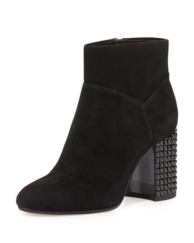 8a8572cb4486 Arabella Stud-Heel Ankle Boot