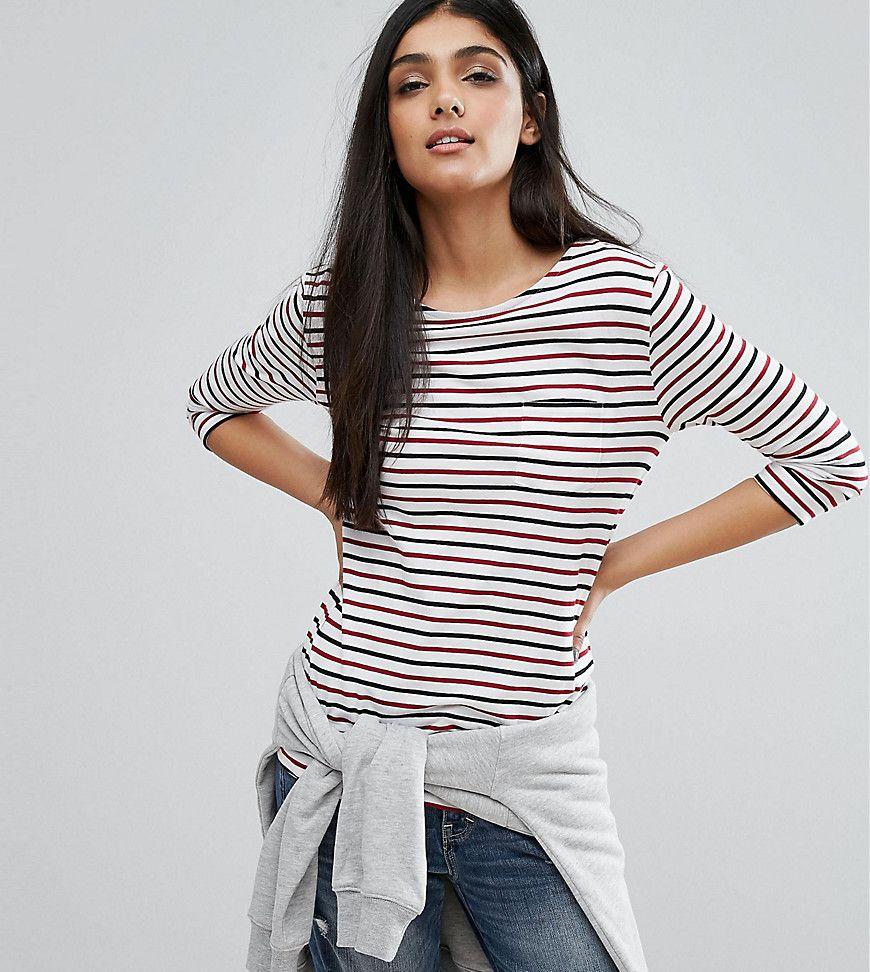New look tall multi stripe tshirt cream products pinterest