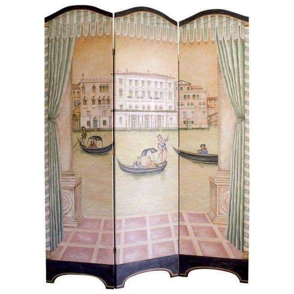Venetian Style Folding Screen (69540 RUB) ❤ liked on Polyvore