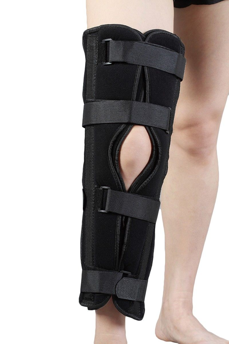 8428314b7c HKJD Health Care 3 Panels Knee Patella Immobilizer for ACL and PCL Strain  Knee Brace Supports