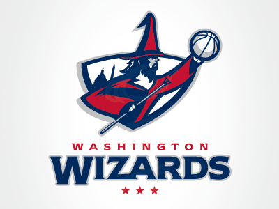 Wizards Primary Sports Team Logos Sports Logo Design Sports Logo