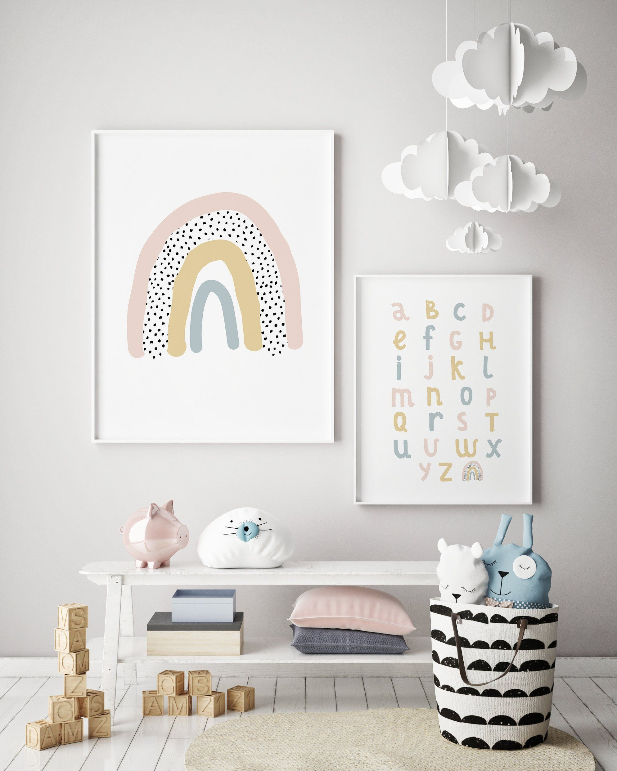 Photo of Over the Rainbow Print | Rainbow Nursery Decor