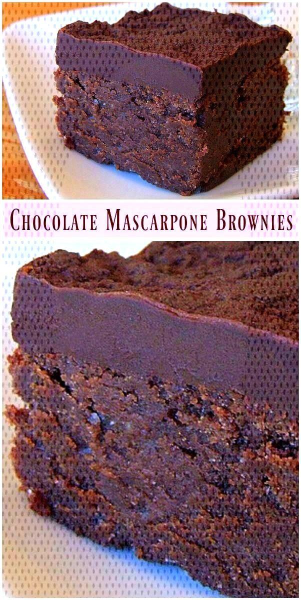 Chocolate Mascarpone Brownies recipe from
