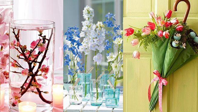 Canastas con plantas para easter originales ideas para for Ideas para decorar interiores con plantas