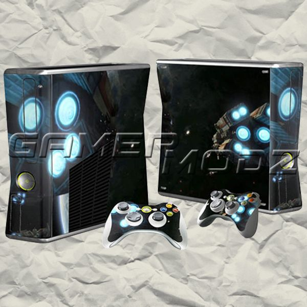 Space Rocket XBOX 360 Skin Set - Console with 2 Controllers