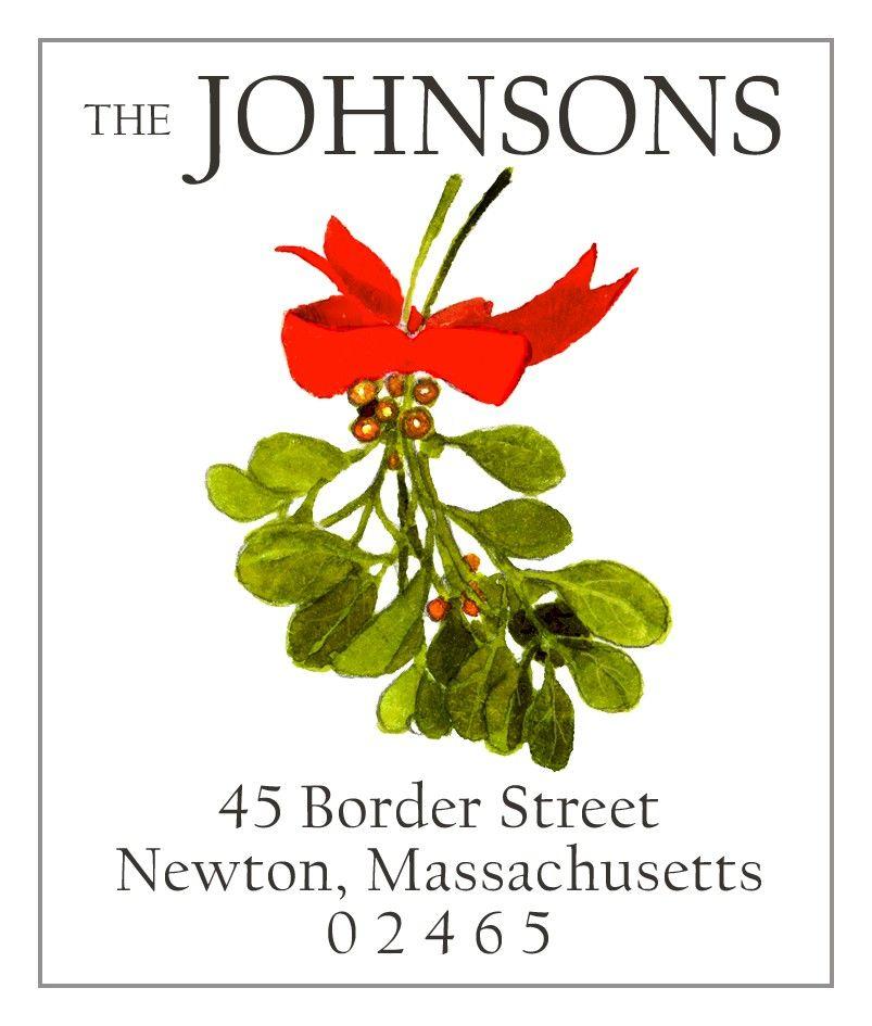 Mistletoe   Return Address Labels
