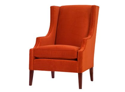 An Orange Wingback Chair Orange Chair Wingback Chair Velvet