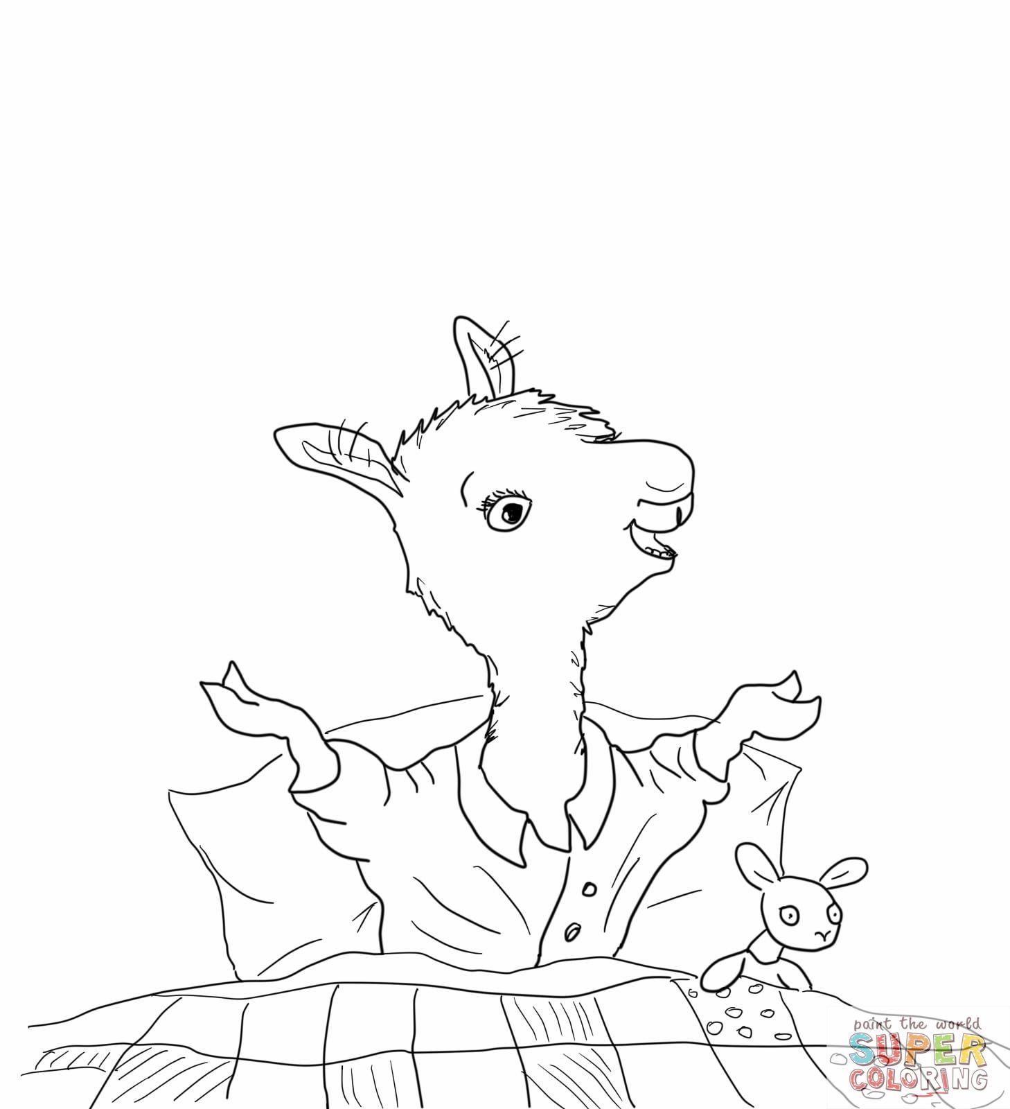 Llama Llama Home With Mama Coloring Page Jpg 1458 1600 Llama Llama Red Pajama Animal Coloring Pages Pajama Day