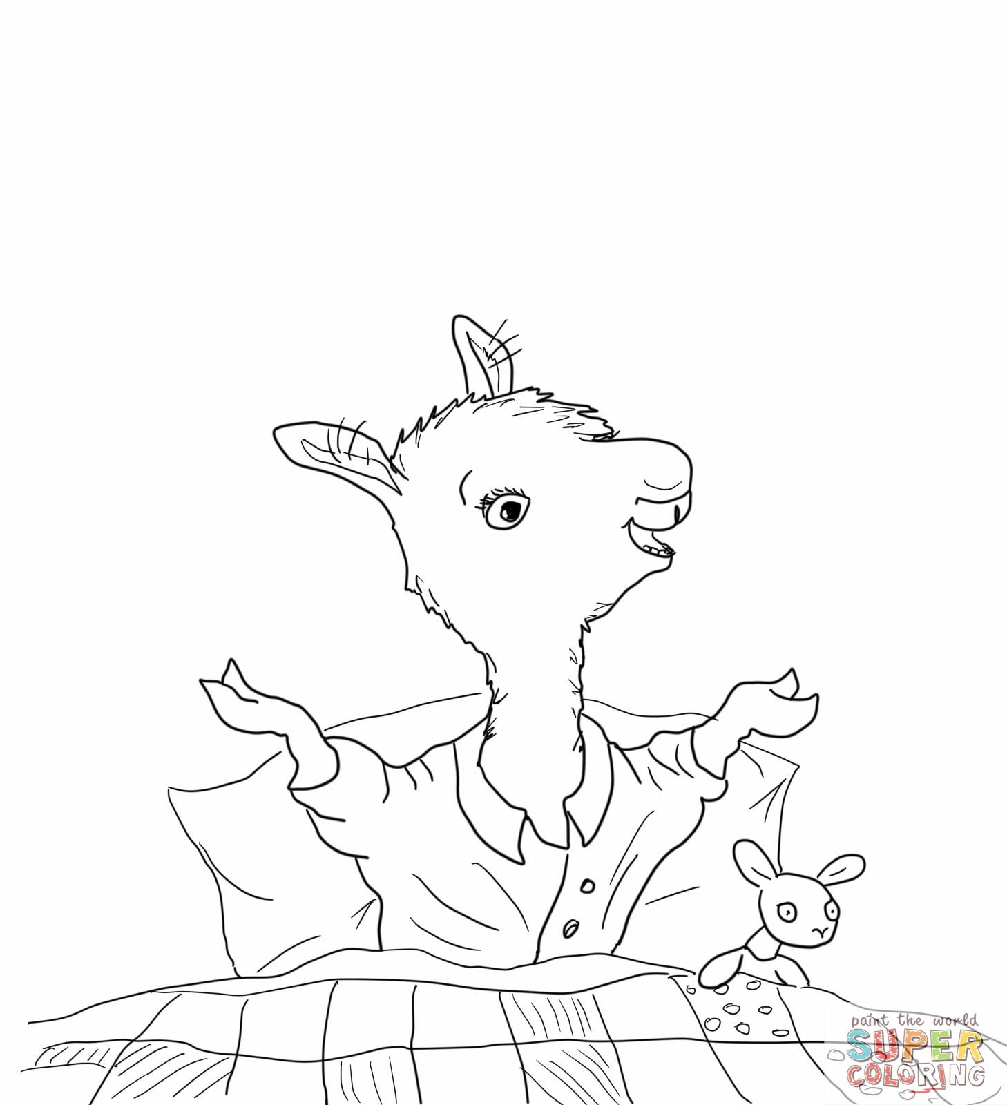 Llama Llama Home With Mama Coloring Page Jpg 1458 1600 Animal