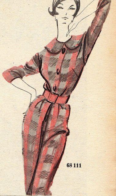 The 1960s-1960 L'écho de la mode illustration | Flickr - Photo Sharing!