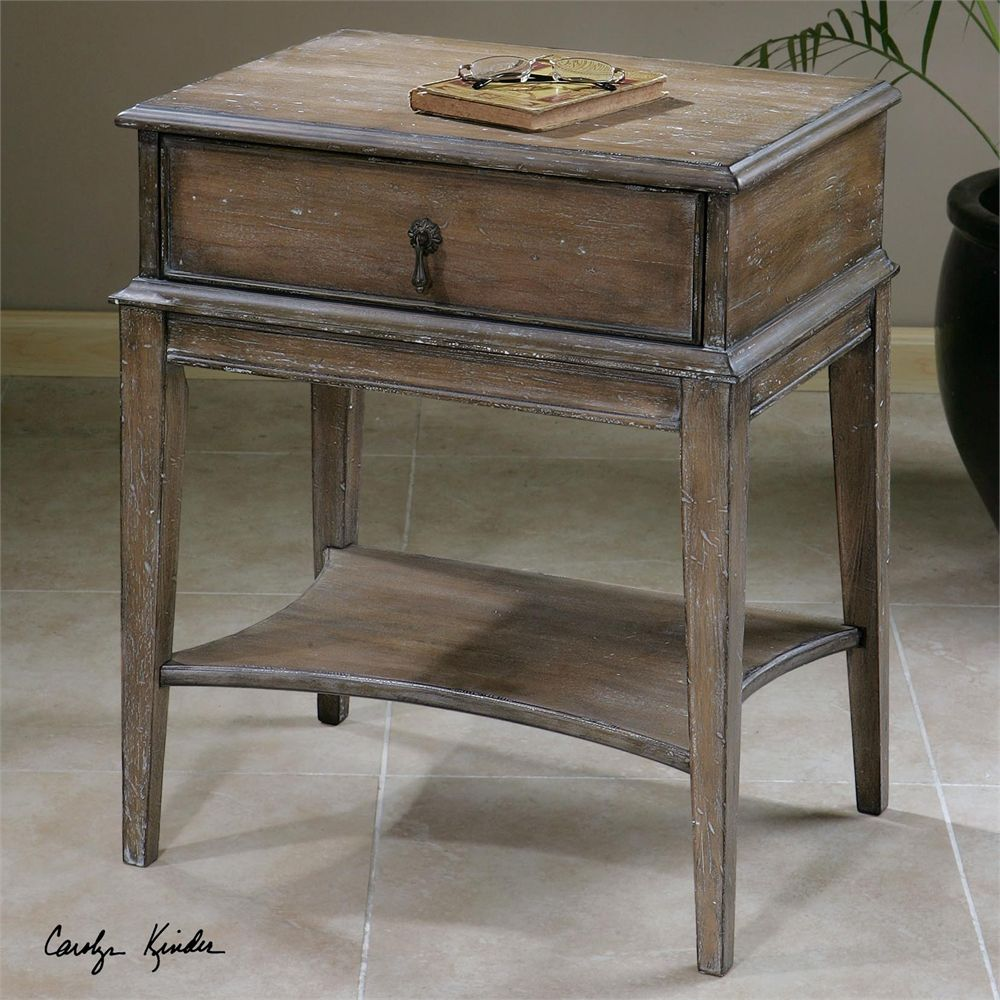 Uttermost Hanford Weathered Accent Table Accent Table Wood Accent Table Furniture [ 1000 x 1000 Pixel ]