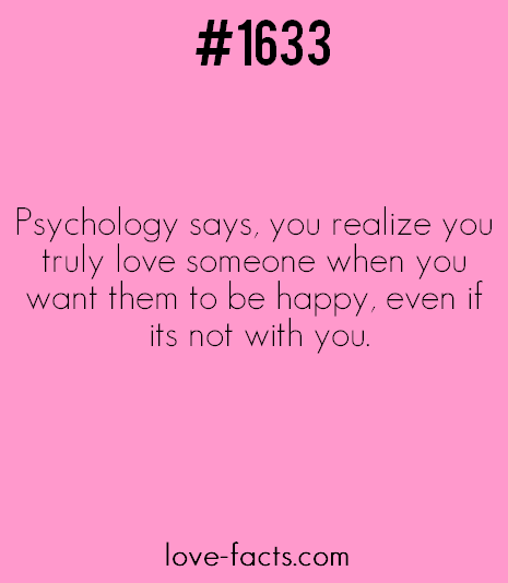 1500+ Facts about love & relationships - LOVE FACT .1633