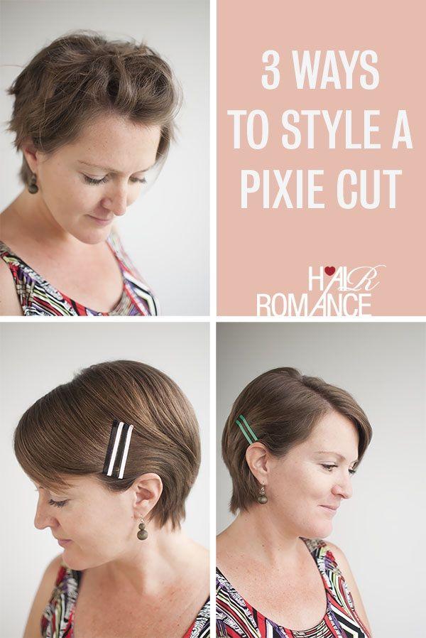 Ways To Style A Pixie Cut Freshen It Up Pinterest Pixie Cut