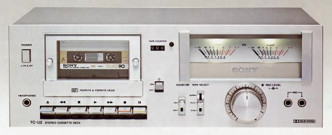sony tc u2 1978 stereo cassette decks 5 sony audio. Black Bedroom Furniture Sets. Home Design Ideas
