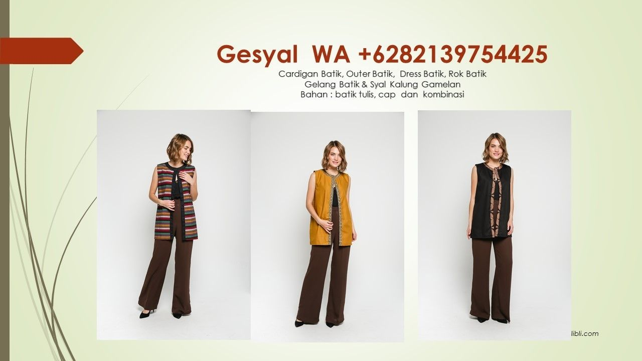 Model Vest Batik Tidar Model Vest Batik Wanita Outer Rompi Batik