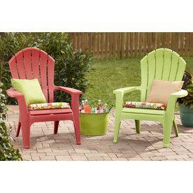 Shop Adams Mfg Corp Green Resin Stackable Patio Adirondack Chair