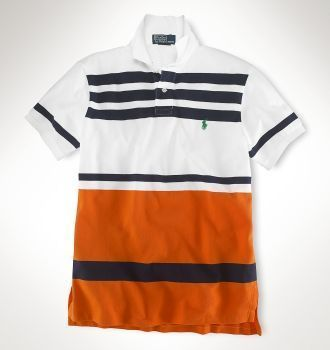 Men Classic Fit Multi Striped Polo White Orange multi   Polo by Ralph Lauren    Pinterest   Polos