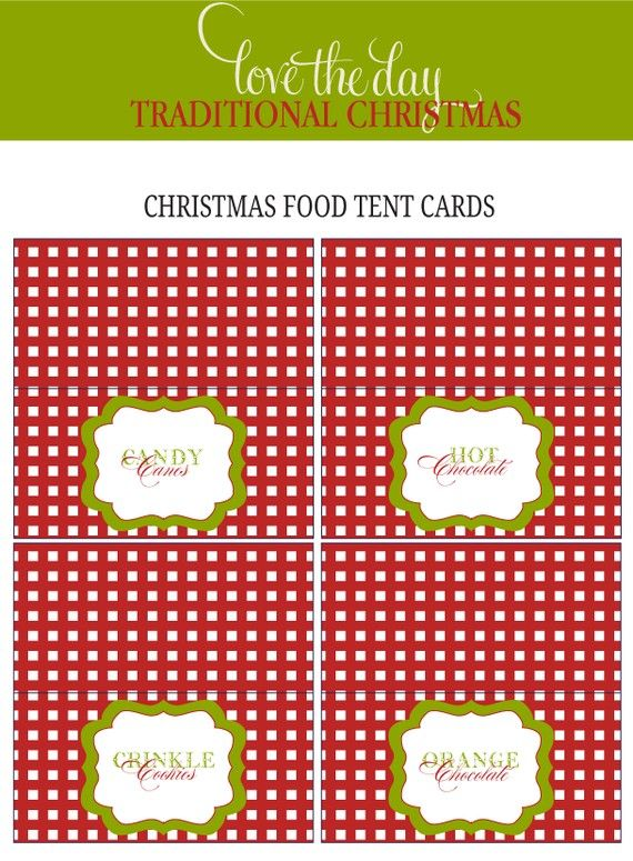 christmas food labels a red and green traditional by lovetheday