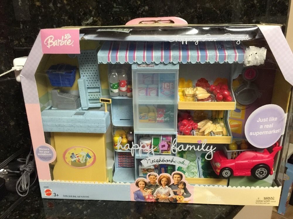 Last One BARBIE DOLL HAPPY FAMILY NEIGHBORHOOD SHOPPING