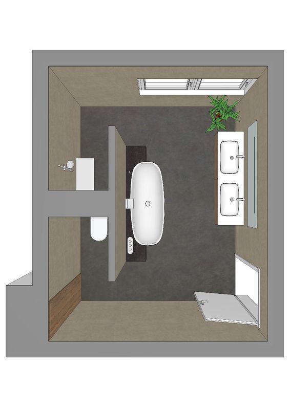 Badezimmerplanung Mit T Losung Bad Bathroom Bathroom Layout Und