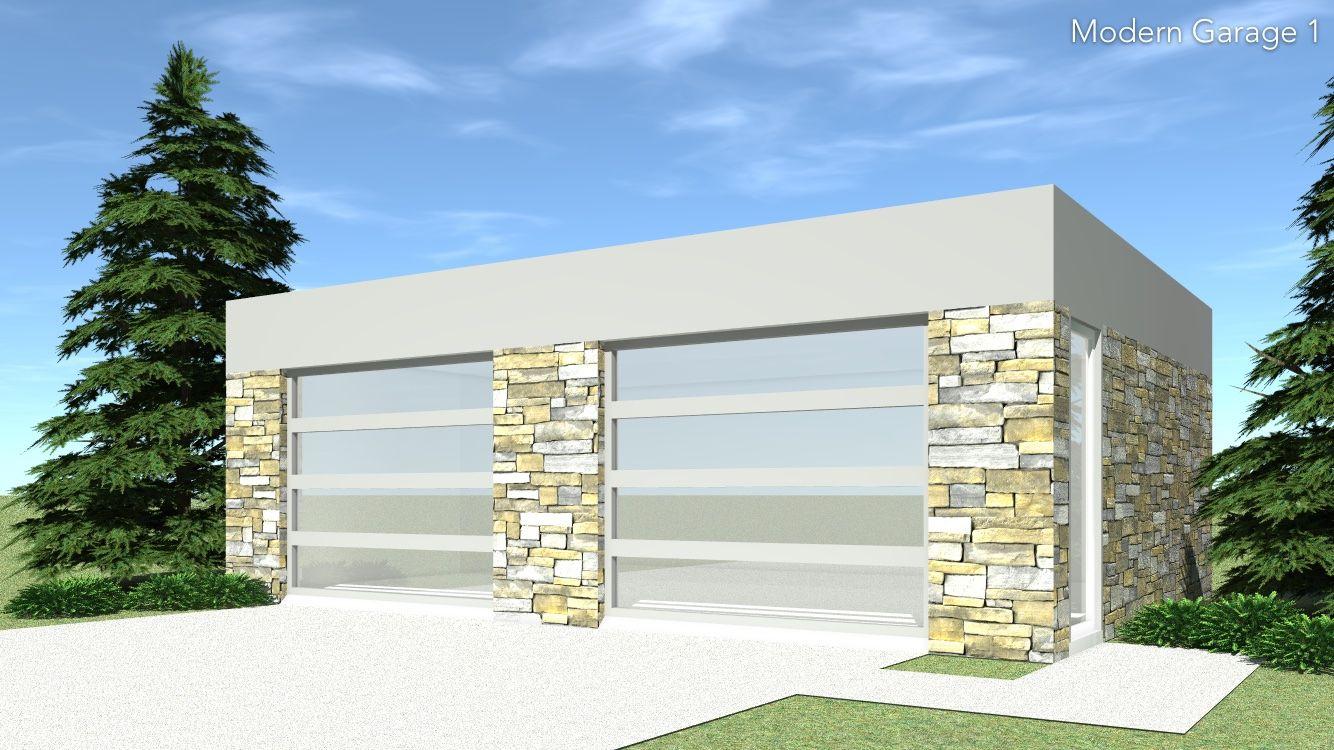 Modern 2 Car Garage. 649 Square Feet in 2019 Modern