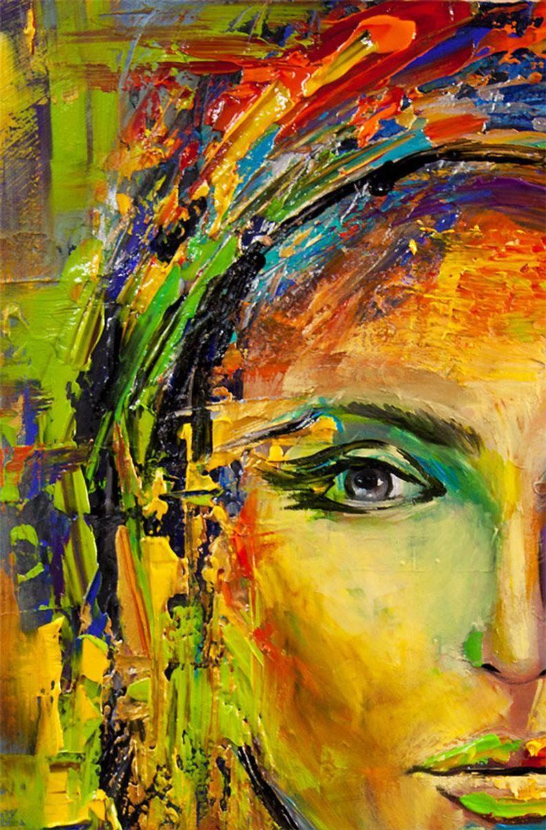 Abstract print abstract painting wall art print on