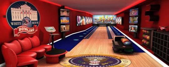 Photo of Rendering der renovierten Bowlingbahn des Weißen Hauses. #recreationalroom #recrea …