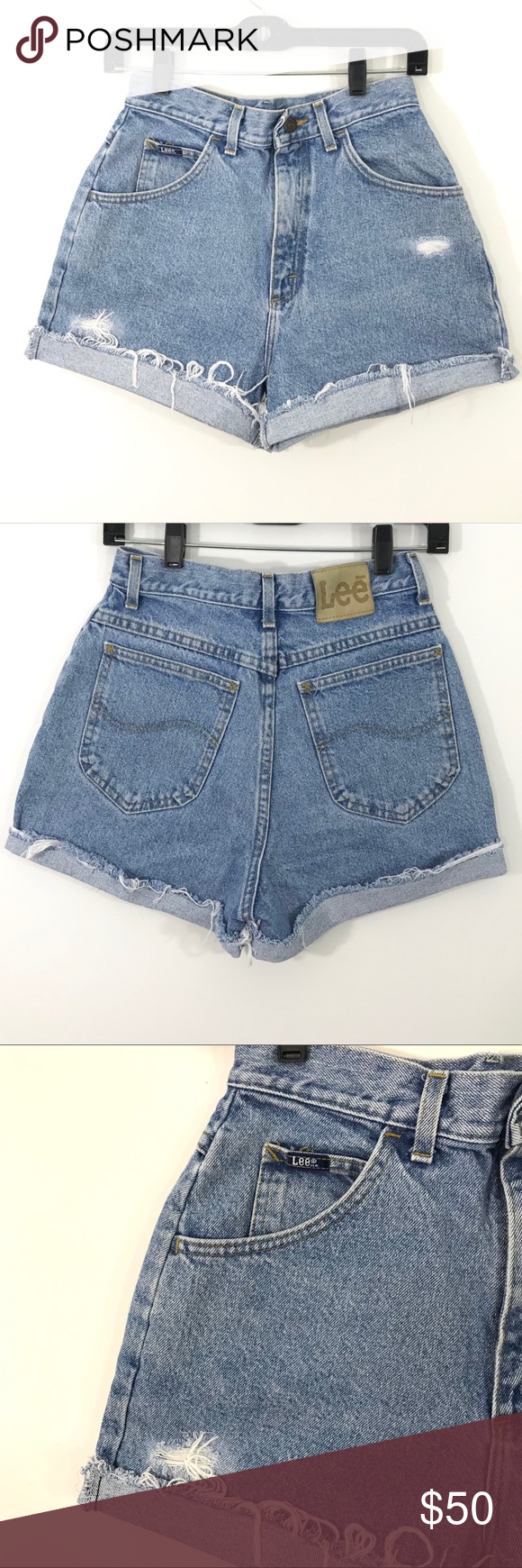 Rise Vintage These Off Jean Distress Lee Shorts Are Cut High Uxf1gA