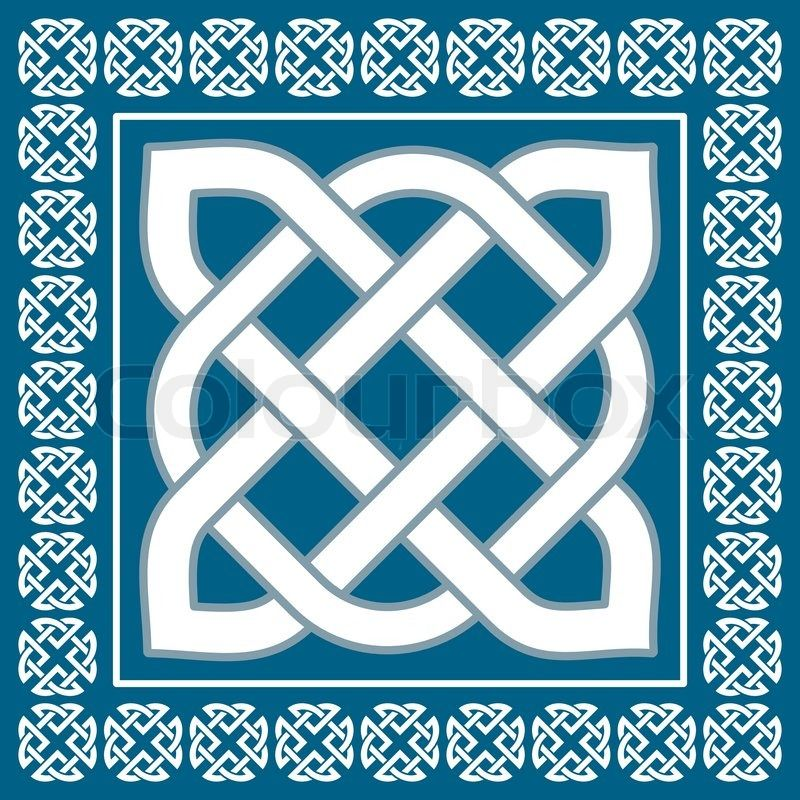 Stock vector of 'Traditional irish celtic knot motif