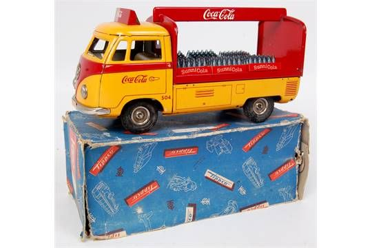Lot 1072 - Tippco Volkswagen Coca-Cola Delivery Lorry, deep orange body with red framework to rear,