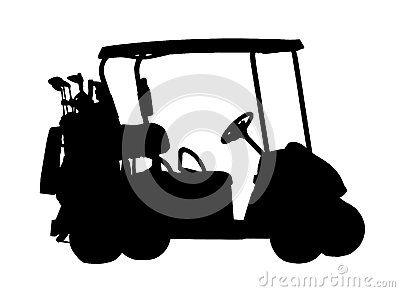 Silueta del carro de golf