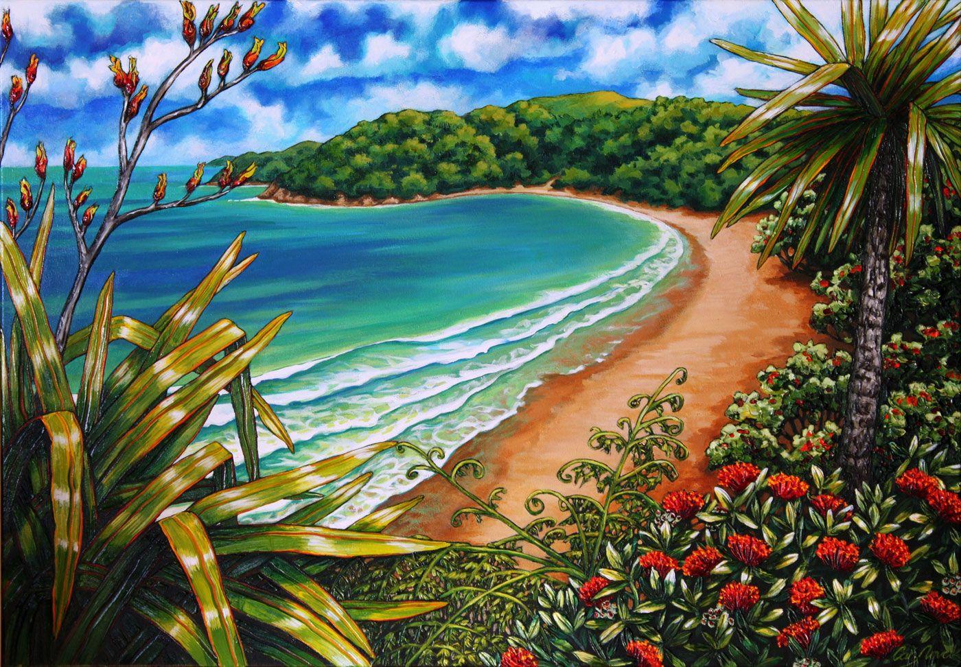 Caz Novak Zealand Artist Pacifica Coastal Nz Art