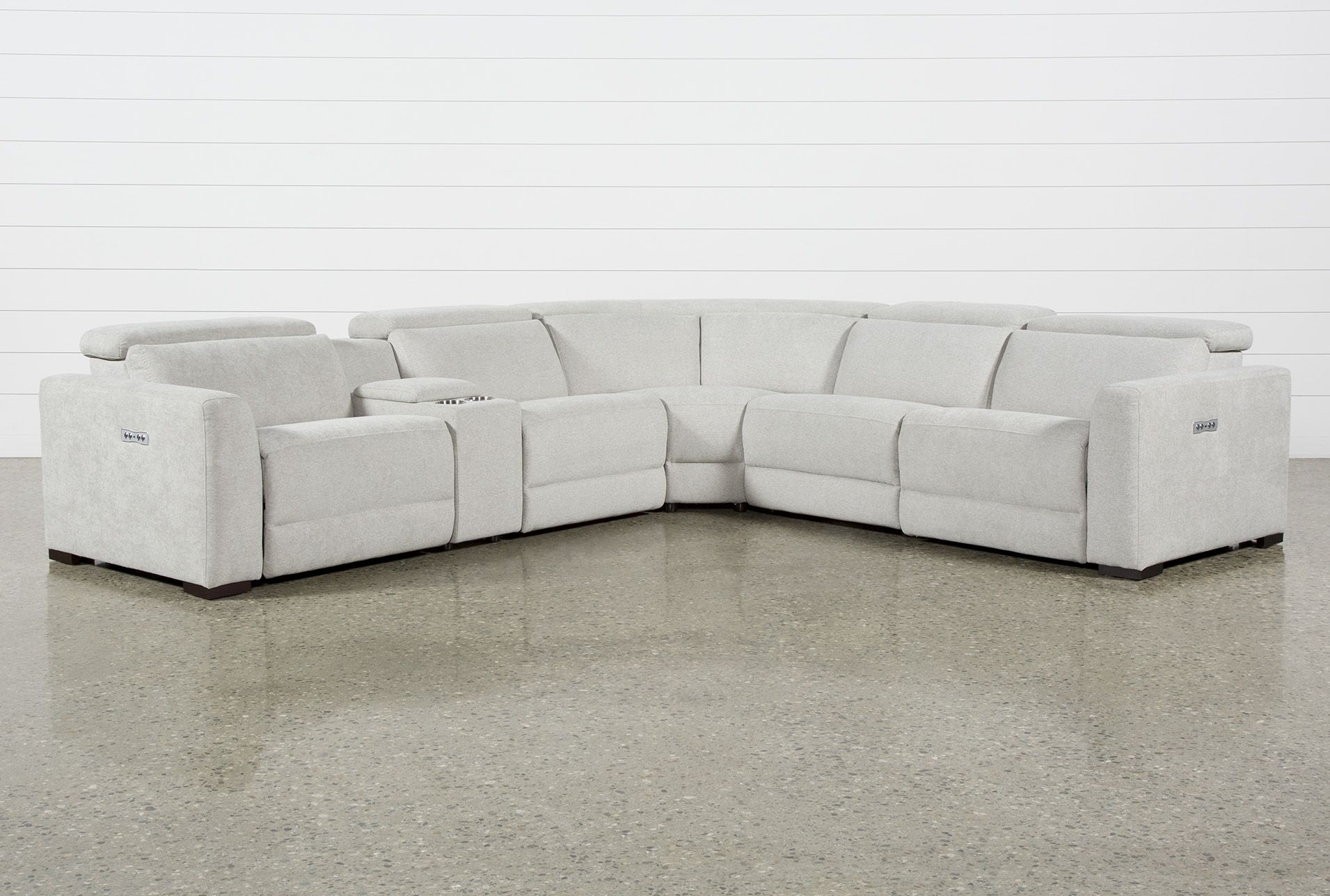 Chanel Grey 6 Piece Power Reclining Sectional Reclining Sectional Power Reclining Sectional Sofa Power Recliners