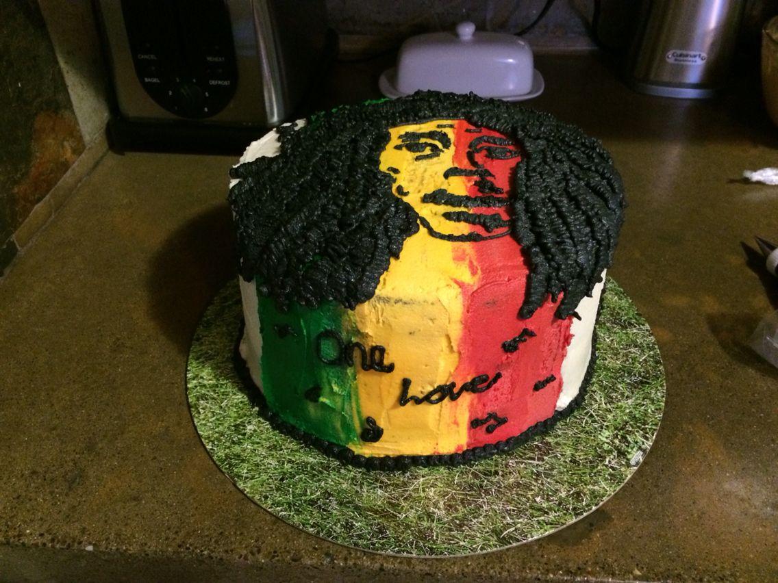*Bob Marley* Crazy cake. More fantastic pictures and videos of *Bob Marley* on: https://de.pinterest.com/ReggaeHeart/