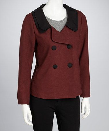 Take a look at this Burgundy Madeline Jacket by Darling on #zulily today!